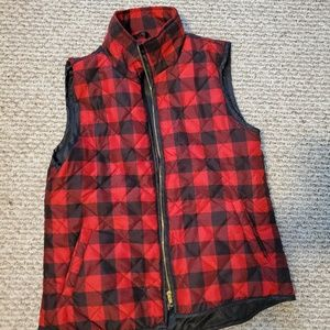 Francesca buffalo plaid down vest
